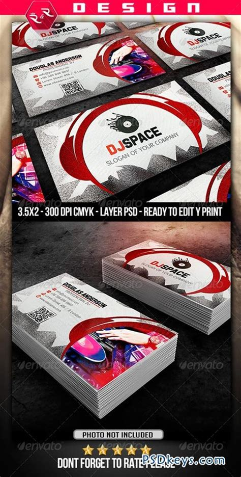 dj business cards templates dj business card template 6898797 187 free