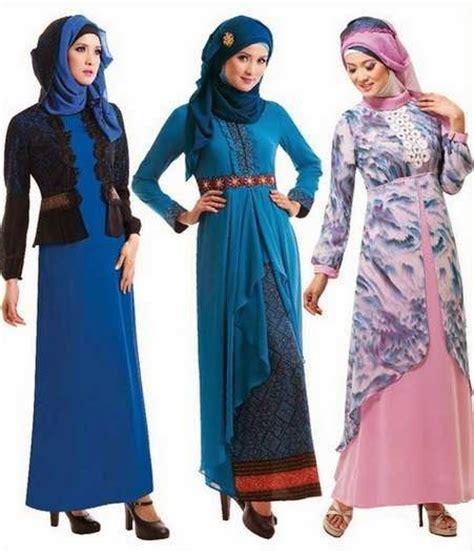 desain gamis muslim terbaru 20 contoh desain baju muslim gamis brokat terbaru 2017
