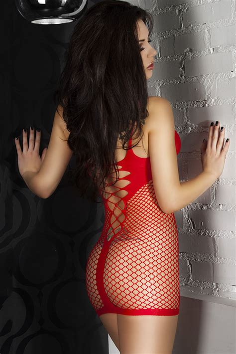 The Interior By See fishnet see through chemise dress wholesale