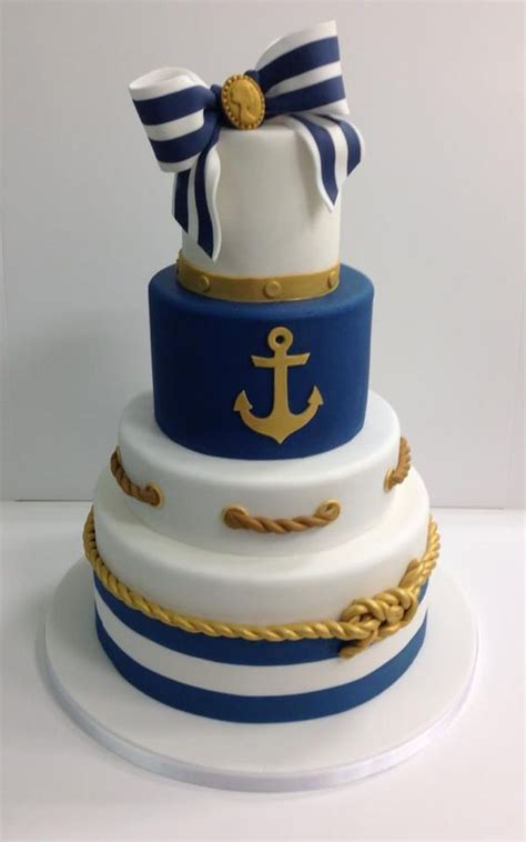 Nautical Bridal Shower Cakes by Southern Blue Celebrations Nautical Cake Inspirations Ideas