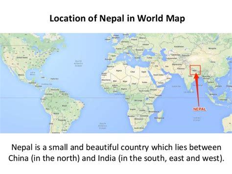 nepal world map nepal