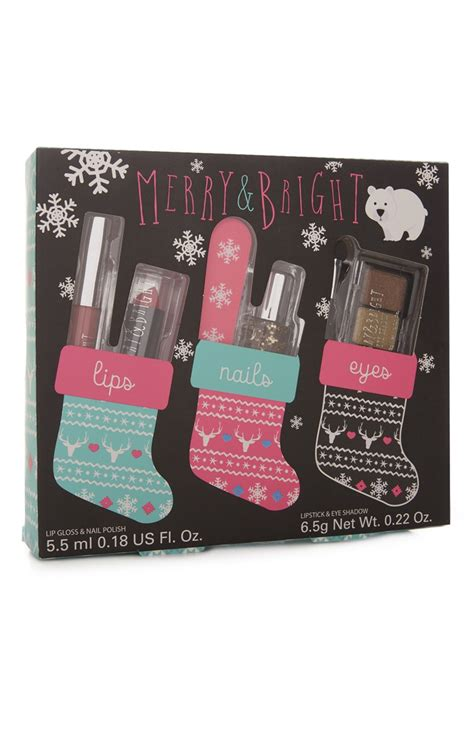 a complete pack of beauty products christmas lips nails