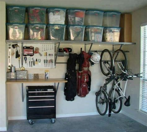 how to organize a garage organized garage garage pinterest