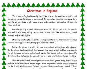 christmas in england adjectives exercise
