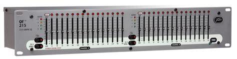 Equaliser Peavey Pv 215 15 Channel peavey qf 215 2u dual channel equalizer with improved feedback location system pev13 458000