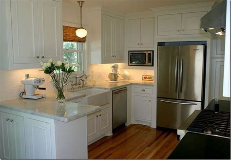 small kitchen with white cabinets small but stylish kitchens pinterest