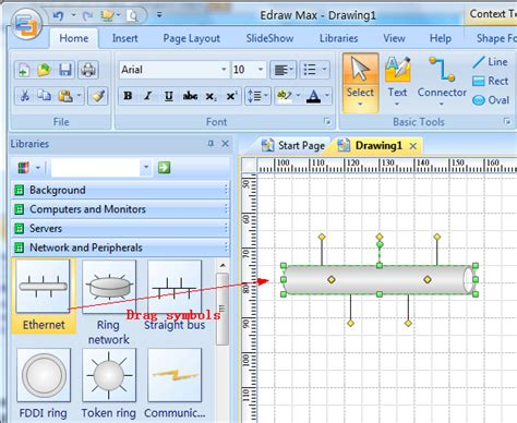 network layout freeware draw network diagram based on templates and exles