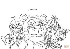 fnaf coloring pages freddy five nights at freddys coloring pages free coloring pages