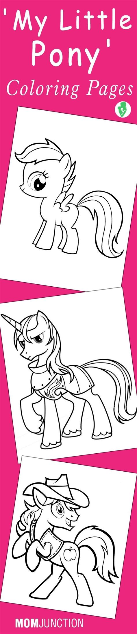 Mom Junction Coloring Pages My Little Pony | mom junction coloring pages my little pony fun coloring