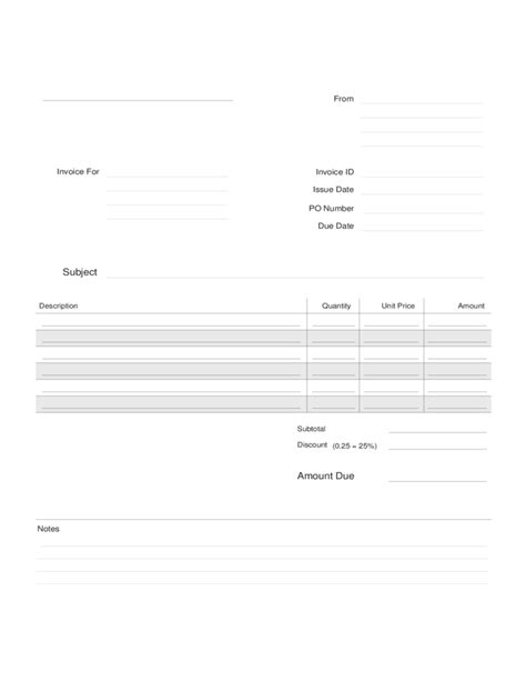 28 free construction invoice template pdf exle of