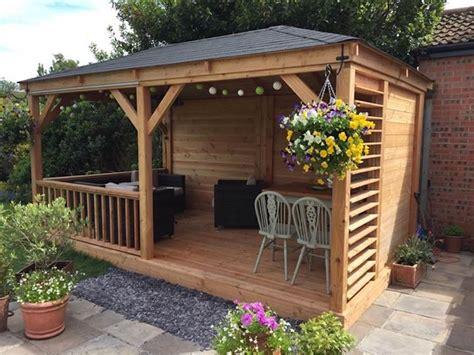 pavillon 9x4 samos larch wooden gazebo 2 9x4 9m