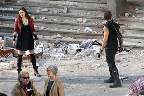 quicksilver movie setting avengers 2 first look at scarlet witch quicksilver