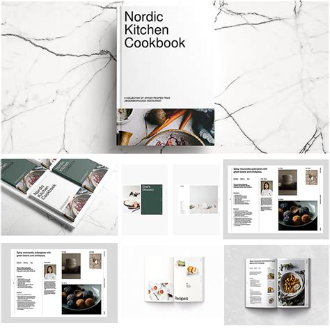 recipe card template indesign cookbook nordic indesign template free