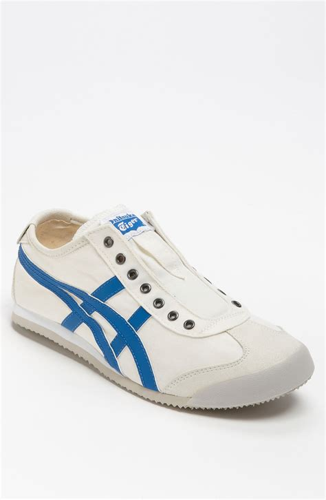 onitsuka tiger mexico 66 slipon in blue for white blue lyst