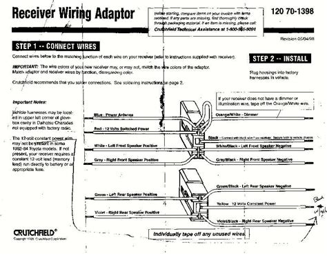 scosche wiring harness diagrams honda get free image