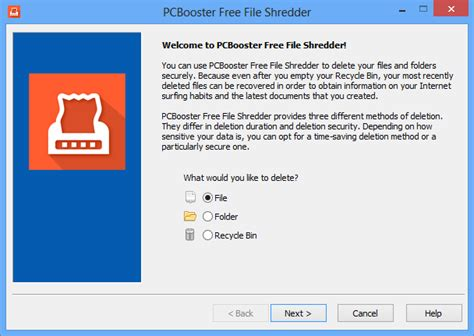 shred folder pcbooster software pcbooster free file shredder free