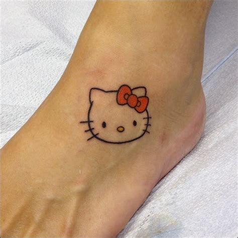 tattoo cute small pin girly foot tattoos on