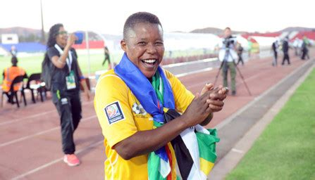 portia modise gestures as as the south african olympic team depart 10 things you didn t know about portia modise diski 365