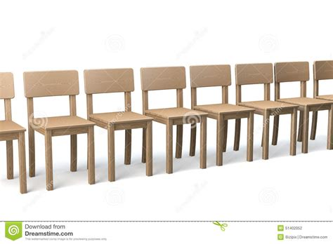 Row Of Chairs by Row Of Wooden Chairs Stock Photo Image 51402052
