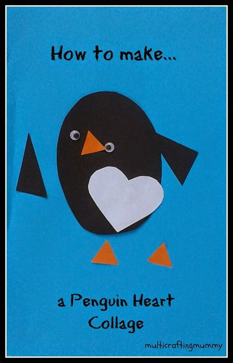 How To Make A Paper Plate Penguin - how to make a penguin shape collage winter theme