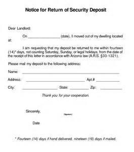 best photos of security deposit refund letter security