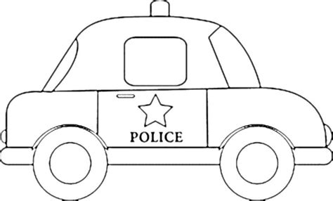 easy cartoon police coloring pages