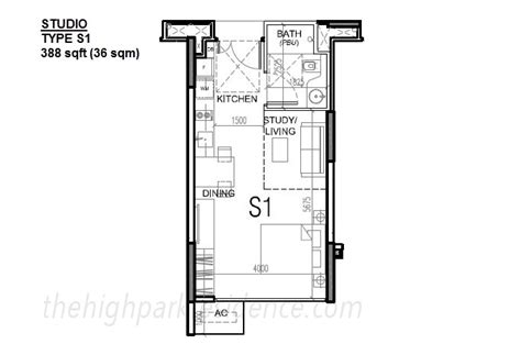studio type floor plan high park residences floor plan high park residences