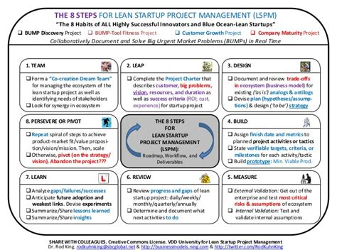8 steps for lean startup project management lspm