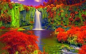 colorful waterfall colorful waterfall color therapy beautiful