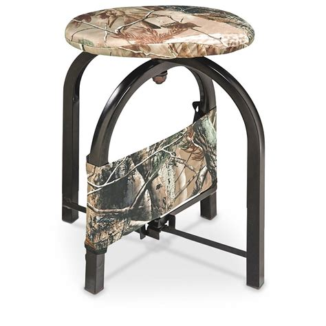 Blind Stool by Ameristep Compass Swivel Stool Realtree 174 Apg Hd