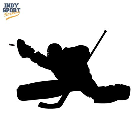 Hockey Wall Stickers hockey goalie in silhouette car stickers and decals