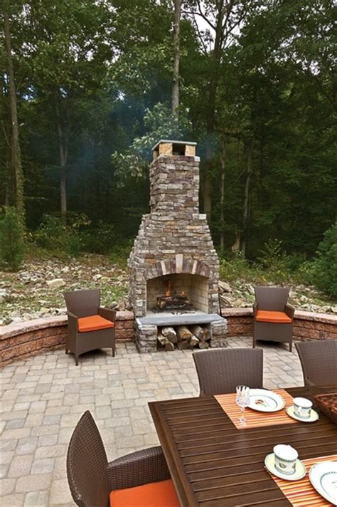 outdoor fireplace w ep henry cast veneer new york