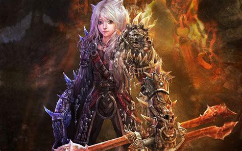 wallpaper elf girl warriors armor elf girl boy fire flames wallpaper