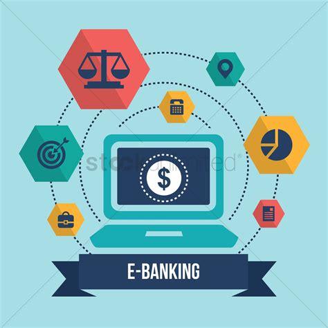 deutsche bank ebanking collection of e banking icons vector image 1304914