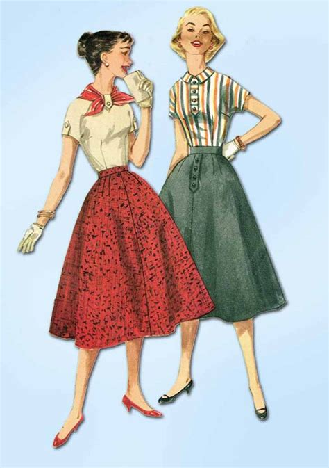 vintage patterns 1950s a 1849940940 1950s vintage simplicity sewing pattern 1736 simple skirt and blouse size 12 32b sewing