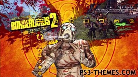 psp themes borderlands ps3 themes 187 borderlands 2 animated