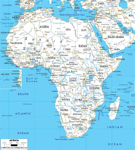 africa map detailed road map of africa ezilon maps