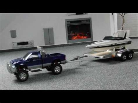 traxxas spartan boat trailer for sale rc tamiya ford f350 mfu 02 with selfmade trailer and rc