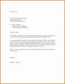 Sle Of Resignation Letter With Reason by Sle Of Resignation Letter Due To Relocation 11 Resignation Letter Templates Free