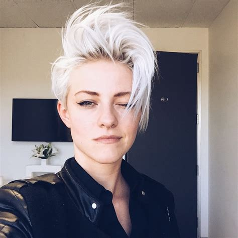 short blonde hairstyles tumblr tomboy brittenelle fredericks itomboys
