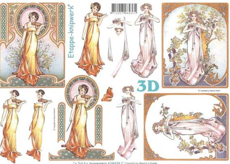 3d Decoupage Prints - nouvou 3d decoupage sheet