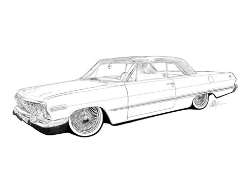 coloring pages lowrider cars quot lowrider quot greeting cards by marokoshi redbubble