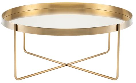 stainless steel coffee table gaultier coffee table in gold stainless steel by nuevo hgde122