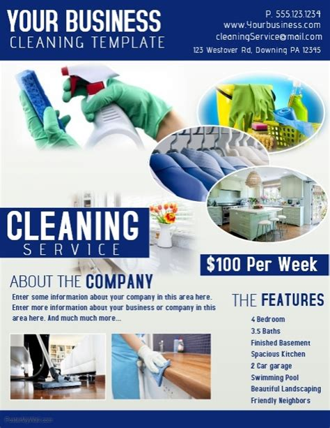 cleaning business flyer templates cleaning template postermywall
