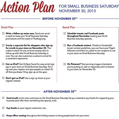 follow up plan template small business saturday 2013 plan email marketing