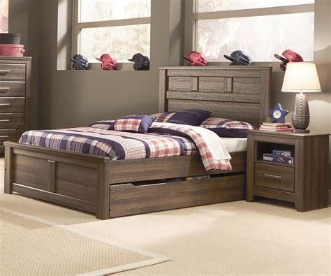 full sized bed b251 juararo trundle bed boys full size trundle beds