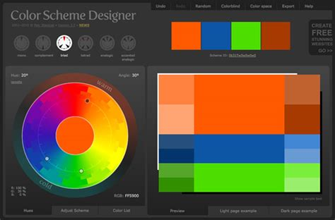 color schemes designer an introduction to color theory for web designers