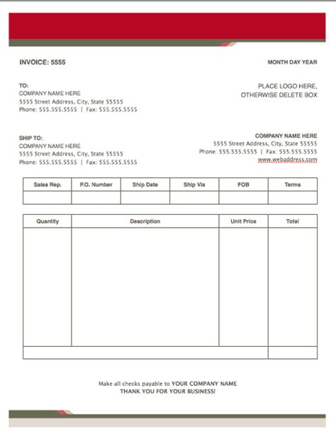 health stylish invoice template  pages  iwork templates