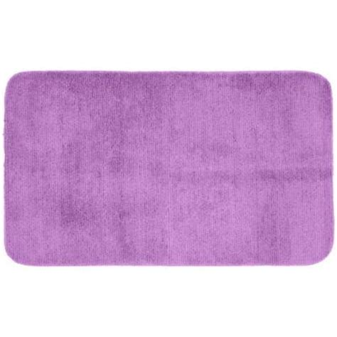 Purple Bathroom Rugs Garland Rug Glamor Purple 30 In X 50 In Washable Bathroom Accent Rug Alu 3050 09 The Home Depot