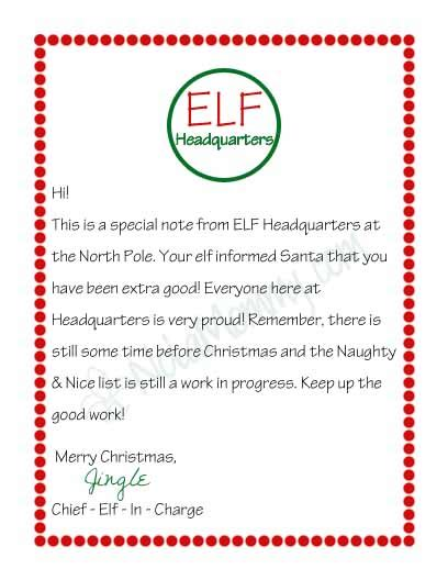 free printable letters from elf on the shelf elf on the shelf letter free printable